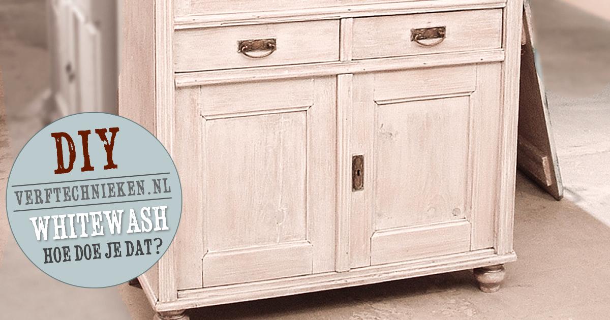 White Wash Kast : Whitewash hoe doe je dat verftechnieken
