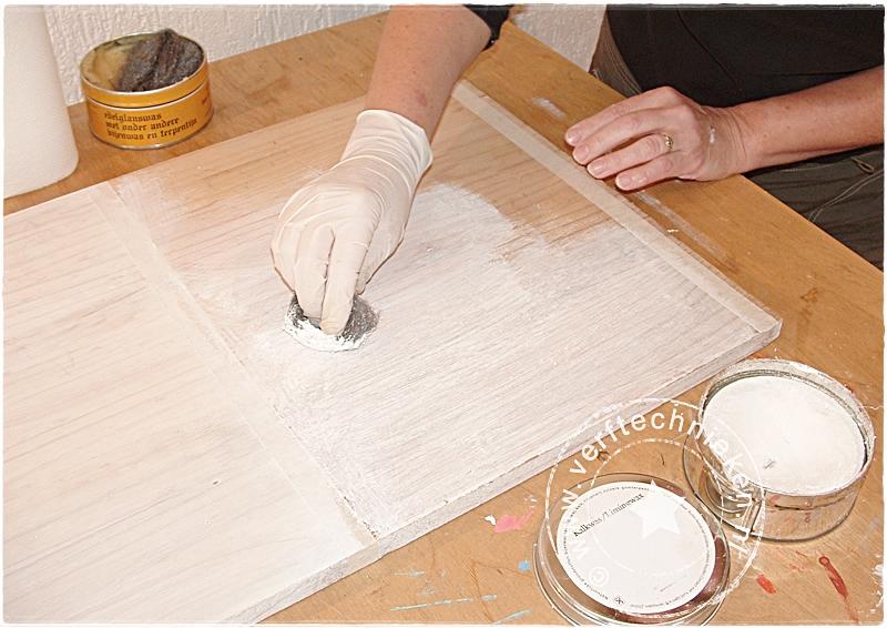 Geimpregneerd hout whitewashen