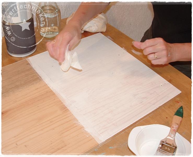 verftechnieken.nl whitewash met krijtverf