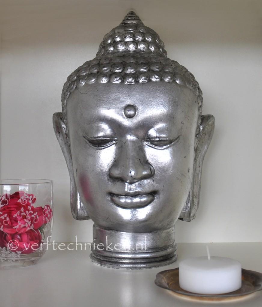 verftechnieken boeddha antiekzilver