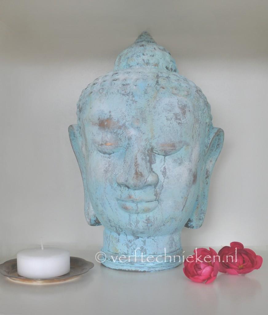 verftechnieken boeddha verdigris