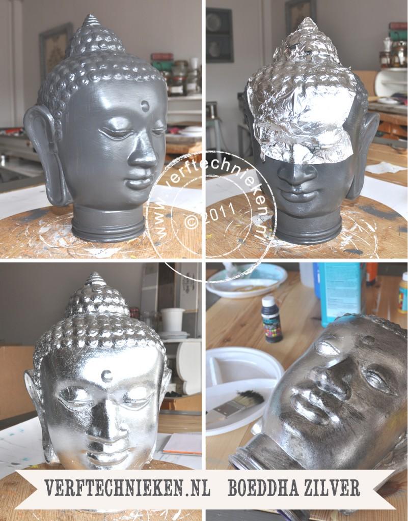 verftechnieken boeddha antiek zilver