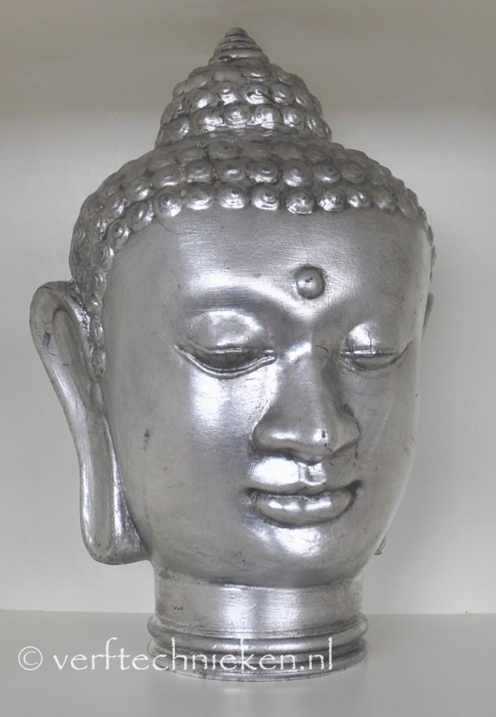 verftechnieken boeddha verzilverd