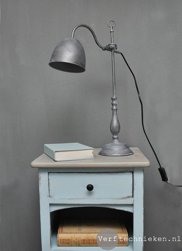 DIY vintage lamp - van shiny chroom naar stoer vintage