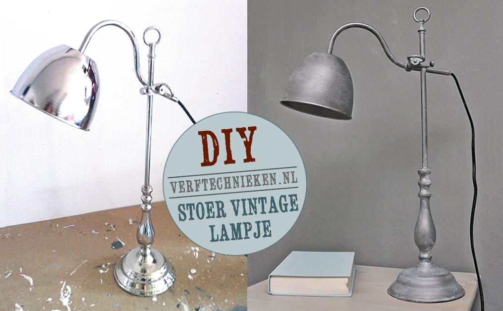 Vaak DIY Vintage lamp maken | Verftechnieken &GK35