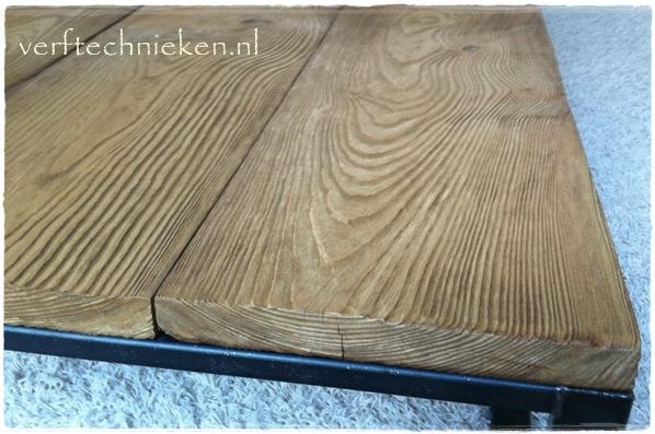 nieuw hout een oude look geven