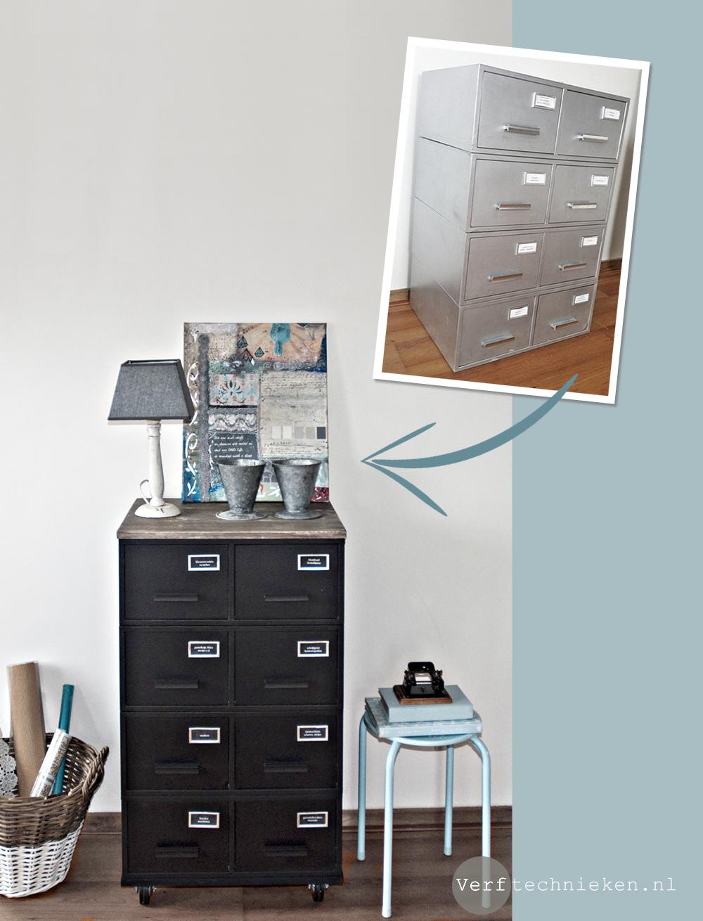 New DIY Industrieel archiefkastje pimpen | Verftechnieken &TO87