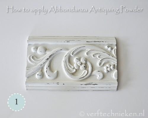Abbondanza Antiquing Powder - stap 1