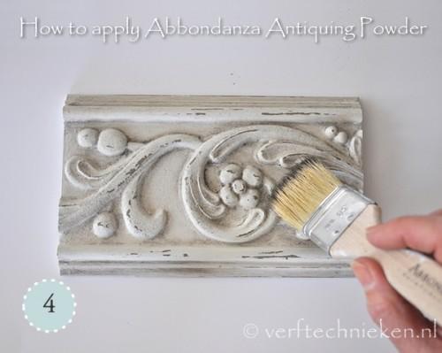 Abbondanza Antiquing Powder - stap 4