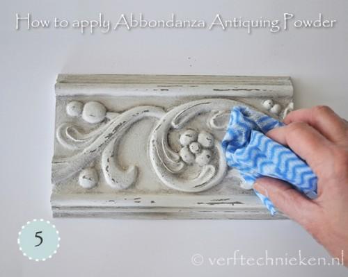 Abbondanza Antiquing Powder - stap 5