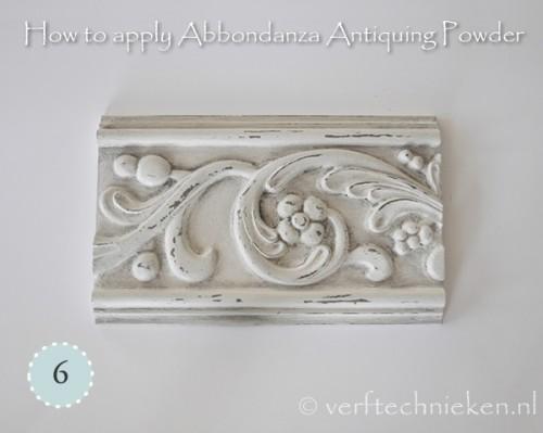 Abbondanza Antiquing Powder - stap 6