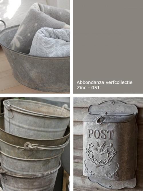 Kleurinspiratie zinc verftechnieken - Kleur grijs zink ...