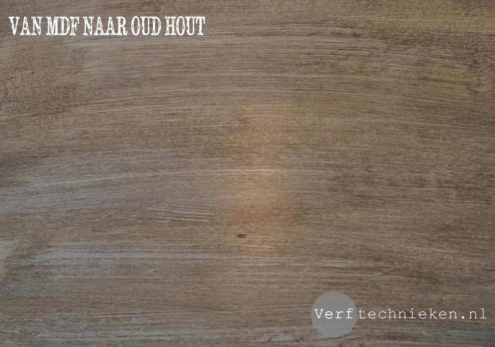 DIY van MDF naar oud hout