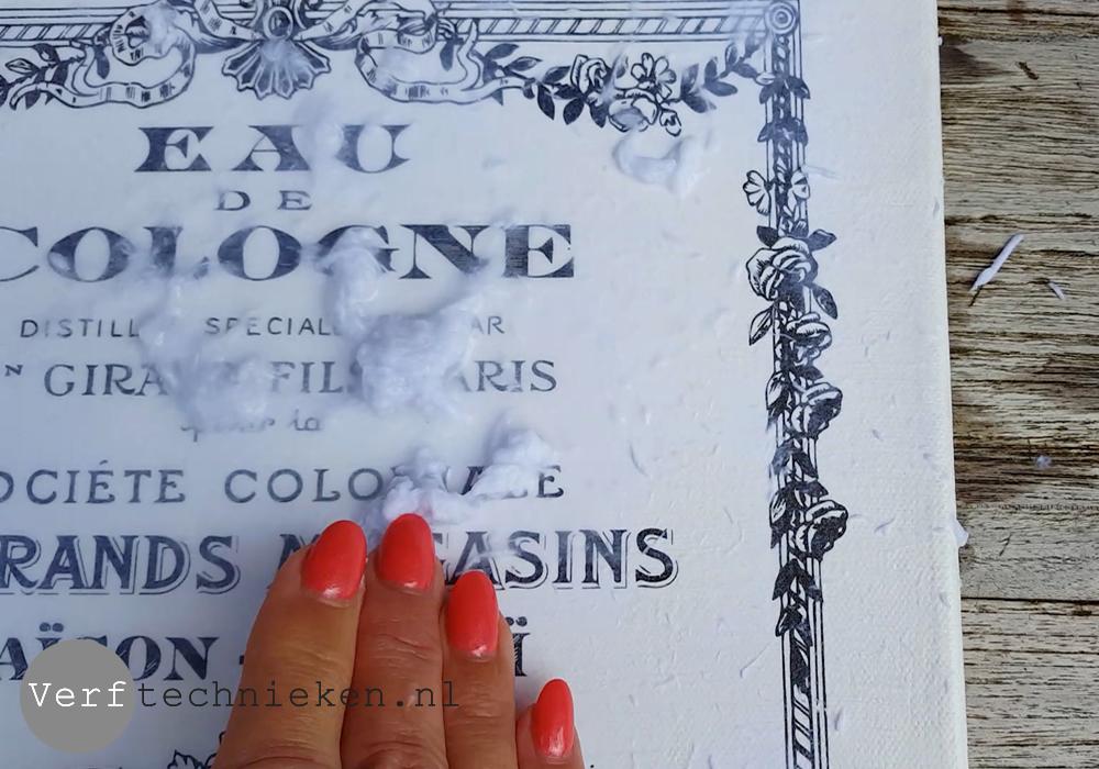DIY vintage canvas met Art Medium