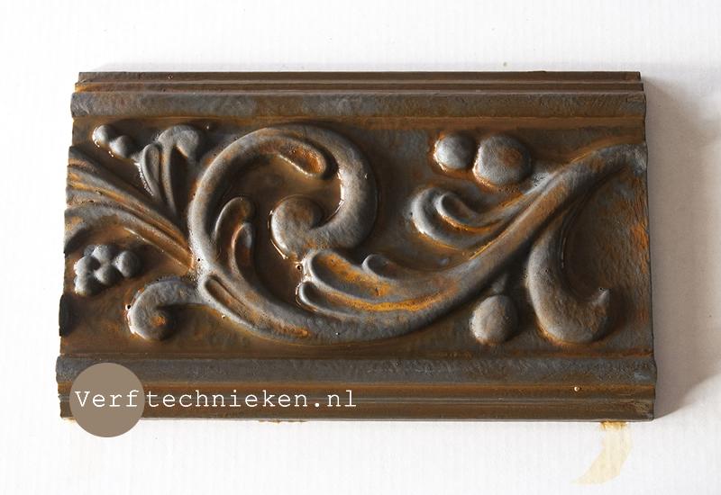 Roest effect maken - verftechnieken.nl
