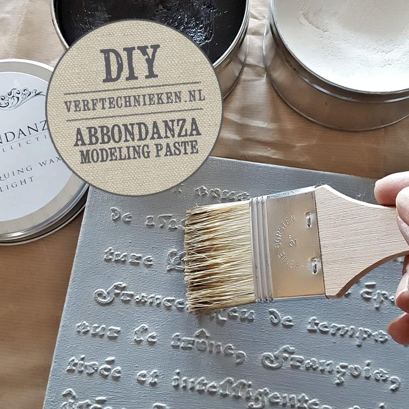 DIY met Abbondanza Modeling Paste