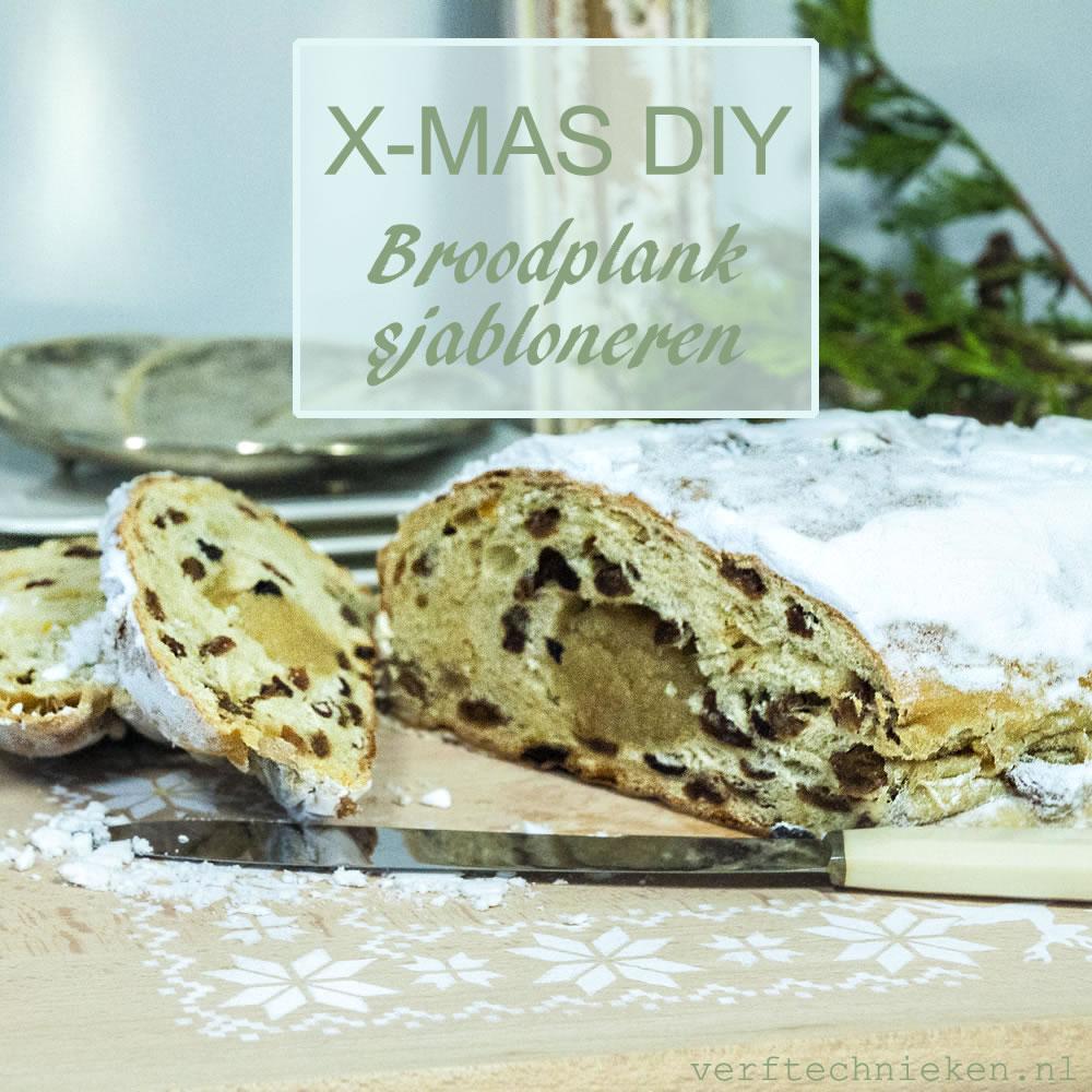Kerst DIY Broodplank sjabloneren