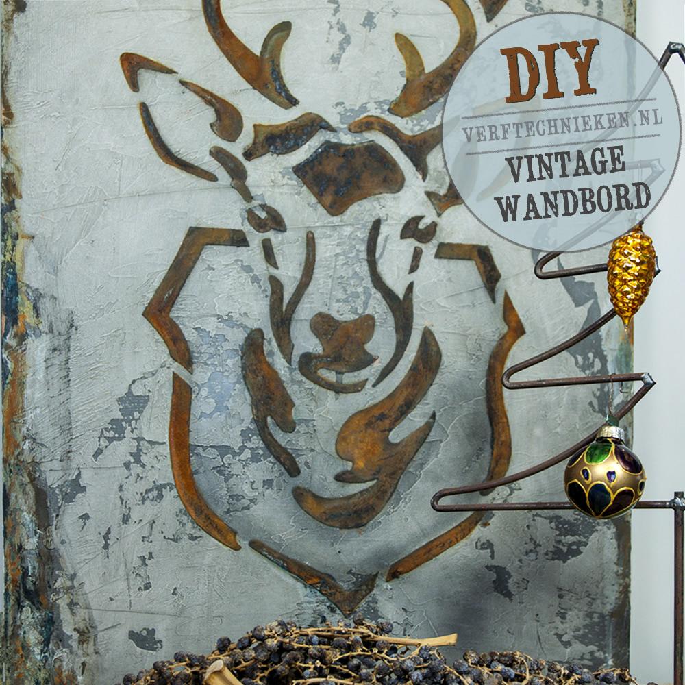 DIY Wandbord Hert