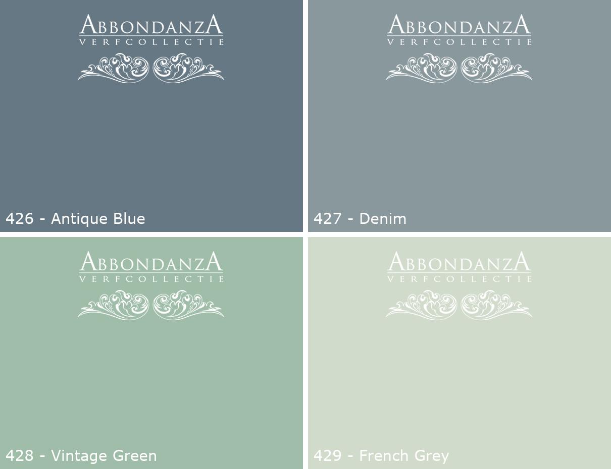 Abbondanza Krijtverf nieuwe kleuren 2017