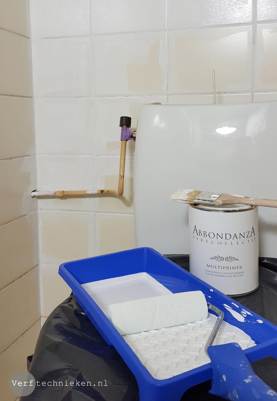 Tegels Over Tegels.Tegels In Het Toilet Verven Met Abbondanza Soft Silk Verf