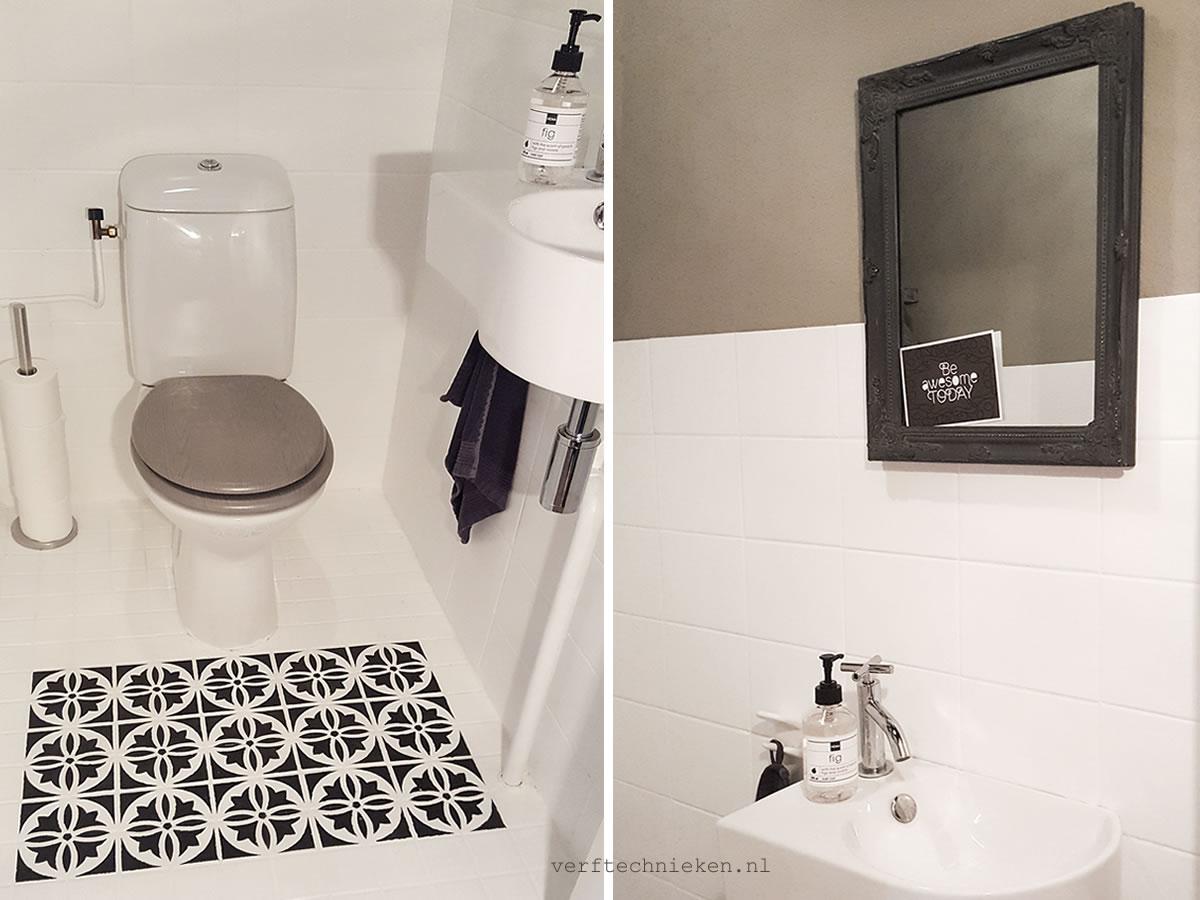 Tegels op de WC verven