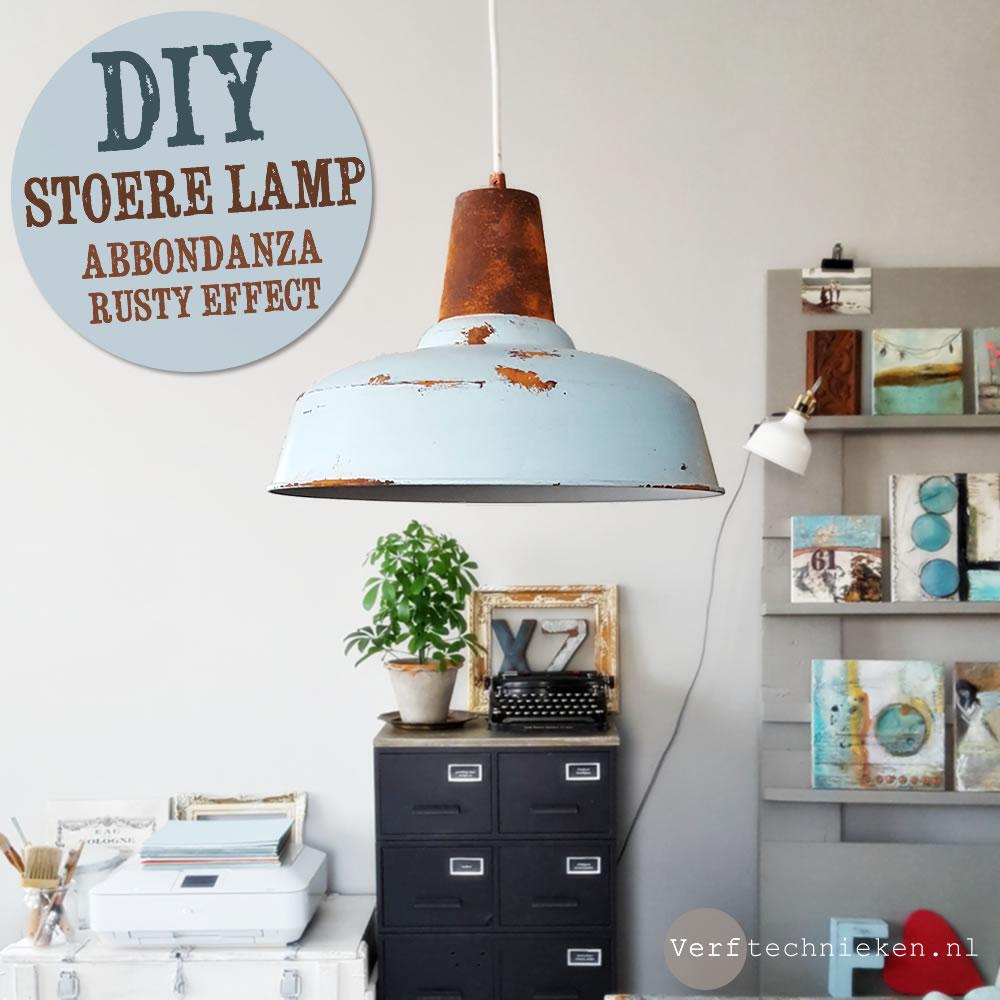 Welp DIY Stoere industriële lamp met roest effect | Verftechnieken HK-31