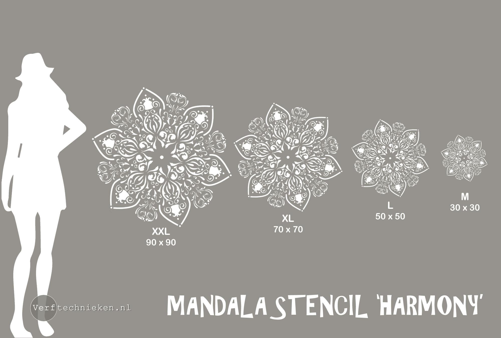 Mandala sjablonen in diverse afmetingen | verftechnieken.nl