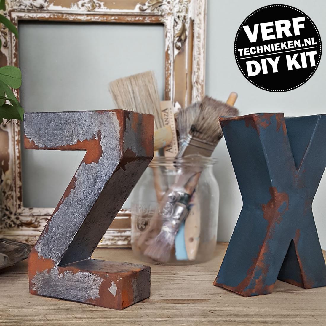 DIY Pakket Vintage Letters - verftechnieken.nl