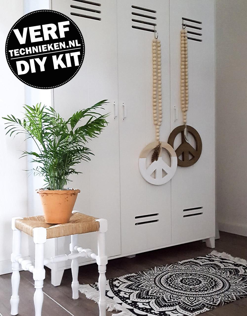 DIY-Pakket Woonketting Peace -verftechnieken.nl