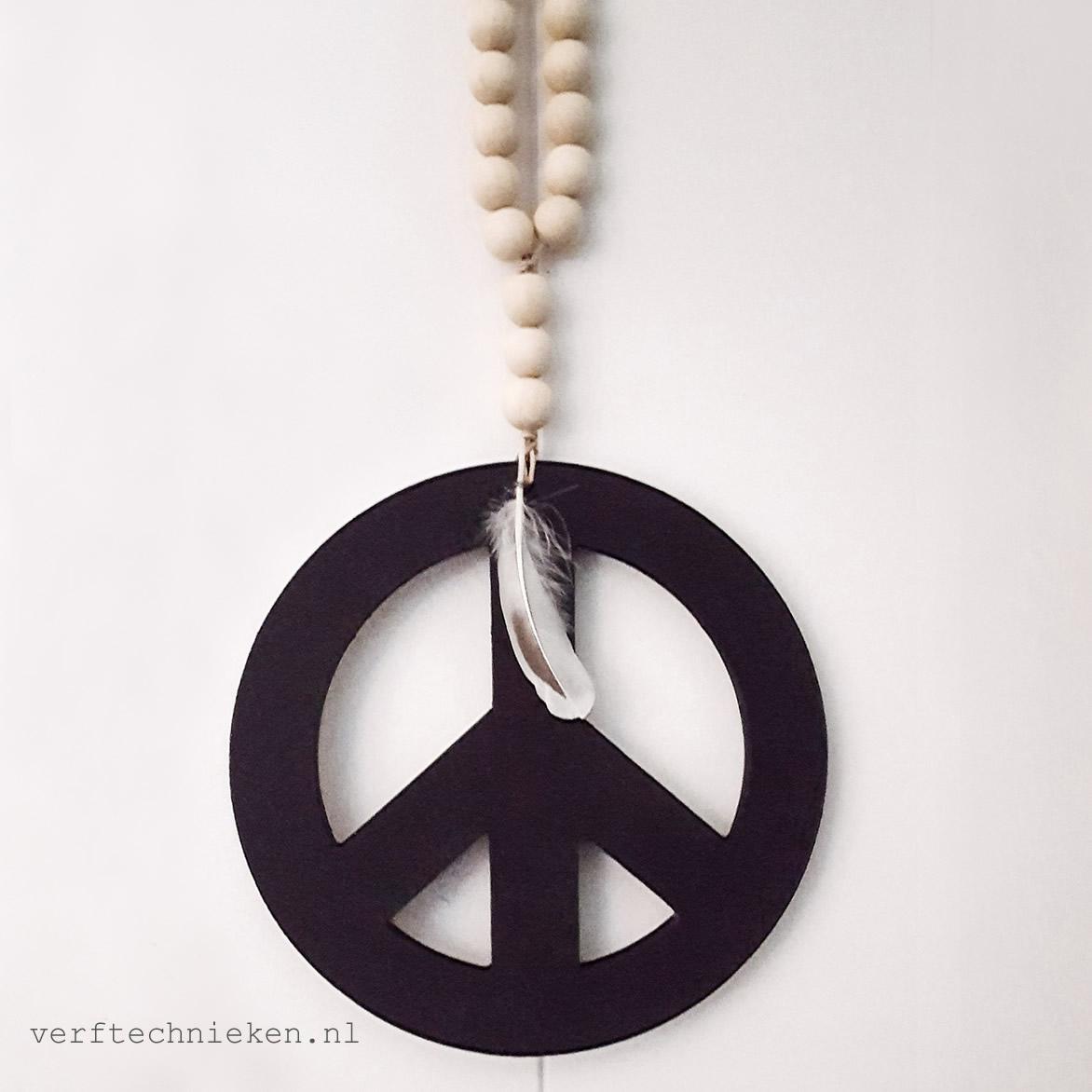 DIY-Pakket Woonketting Peace Black-verftechnieken.nl