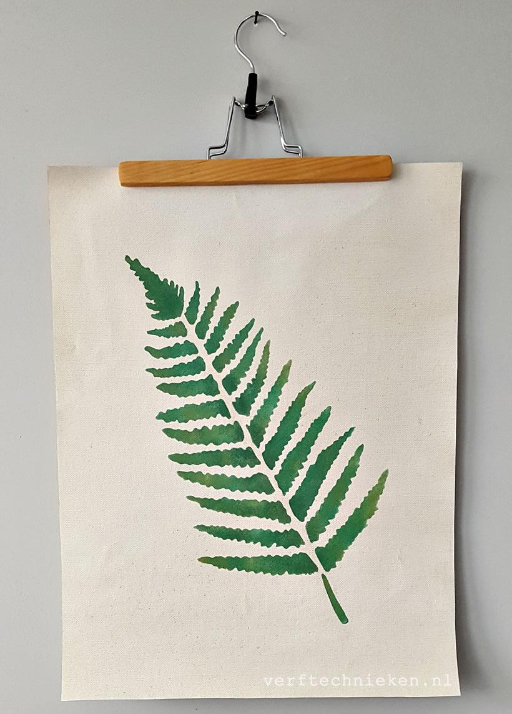 DIY Botanische wandplaat op Canvas – verftechnieken.nl