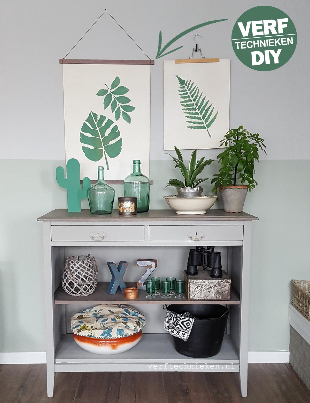 DIY Botanische Print zelfmaken Verftechnieken.nl